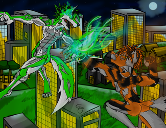Battle of the Nephilim by DestinySpider