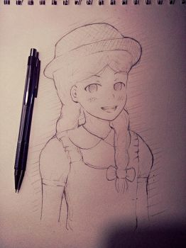 Becky Thatcher sketch- adventures of Tom Sawyer by sperfia