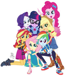 MLP EG Mane 7 New Look by ilaria122