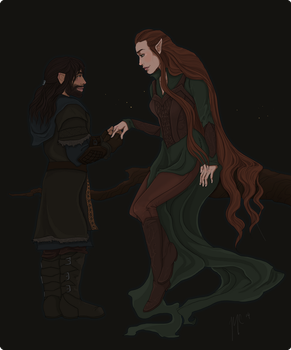 Kili and Tauriel by THE-WEATHERED-RAVEN