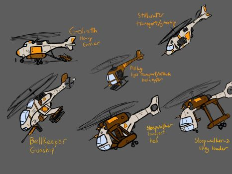Helicopters of North Ghurrka by woundedskies