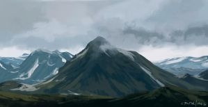 Mountains study no.2 by jonpintar