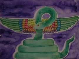 Buto Egyptian Winged Serpant by mayanbutterfly