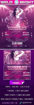 Wild Night Flyer Template by SensationPhotoworks