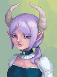 Horned Girl by PancrythePancreas5