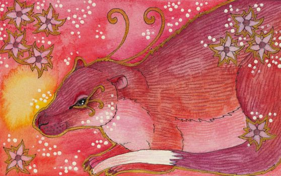 Rose Series - 02 Rakali (Australian Water Rat) by Ravenari