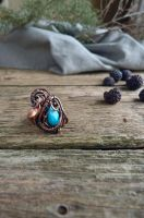 Turquoise ring by UrsulaJewelry