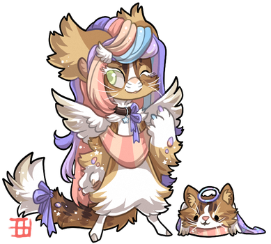 #1124 Mythical BB - Angelic Maine Coon by griffsnuff