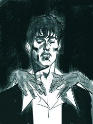 Sketch Dylan Dog by ChristopherPossenti
