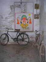 ganesh and pushbikes by regina-oups