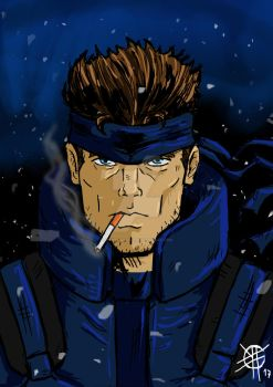 Solid snake by Fedegramajo