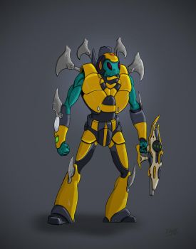Bumble Bee Armor Alien by Dimfist