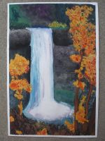 Water Fall water color by ErnstRyan1