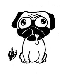 Drooling Pug by Goh