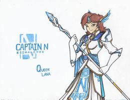Captain N RE. - Queen Lana by WMDiscovery93