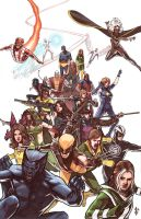 X Men Team with Colors by benttibisson