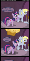 Twilight and Derpy in ''The Lever'' by DiegoTan