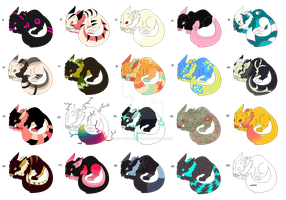 Halloween Night Critters3 Adoptables CLOSE by lit-nebulosa