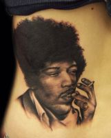 Jimmy Hendrix tattoo by hatefulss