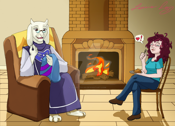 Undertale: A lovely Goat Mother by Lauretta-89