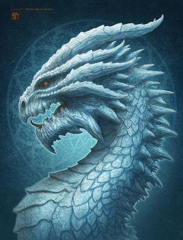 Ice Dragon by kerembeyit