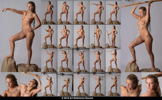 Stock:  New Model Sara 20 Fighting Poses by ArtReferenceSource