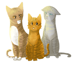 Three Medicine Cats by Drawmachiine
