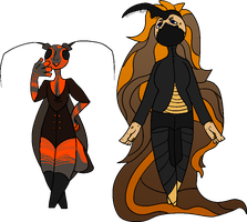 [gatchas] Elder box bug + hercules beetle by cynful-adopts