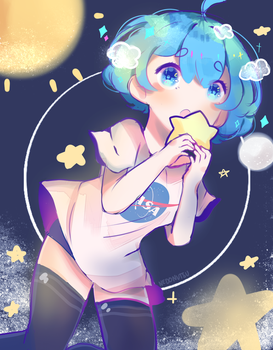 Earth-chan's not flat! by nedonutsu
