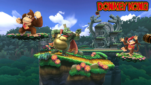 SSBU Background - Donkey Kong by domobfdi