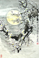 Chinese Painting Hidden Fragrance by TaoBishu