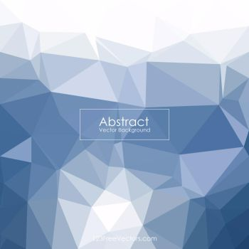 Blue Polygonal Pattern Background Free Vector by 123freevectors