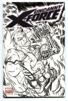cable sketch cover inked by illustrated1