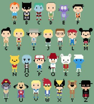 CHIBI--Cartoon Alphabet by OrcaStudios