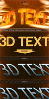 3D Text Effects by GrDezign
