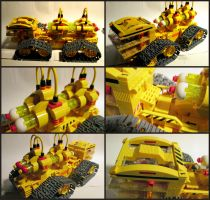 Big Yellow All Terrain Fuel Rod Transporter by Frohickey