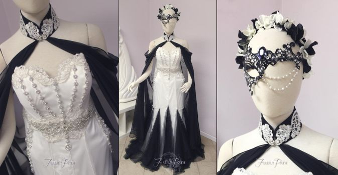 ~Masquerade Themed Bridal Gown~ by Firefly-Path