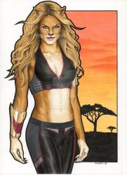Feline Warrior by Promethean-Arts