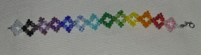 Rainbow bead bracelet by Duck-With-No-Name