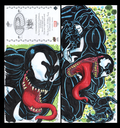 Venom Marvel premiere 3 panel from Upperdeck by comicsINC