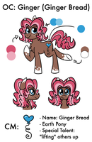 OC Ginger Ref Sheet by Pink-Pone