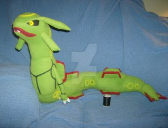 Comm: Rayquaza Plush + PATTERN AVAILABLE by xxtemporaryinsanity