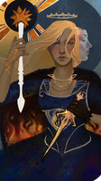 Tarot card for Empress Celene by Roastea