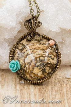 WIre Wrapped Picture Jasper by youvegotmaille