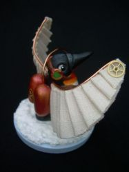 Steampunk Penguin view 2 by liselfwench