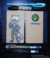 Notebook Cat Noir - Fanart Miraculous LadyBug by CrisEsHer