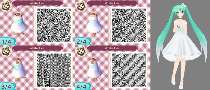 Animal Crossing New Leaf White Eve By Nevasarini On DeviantArt Awesome Animal Crossing New Leaf Sewing Machine Qr Codes
