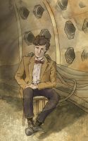 Portrait of a Happy Madman (Eleventh Doctor) by SmudgeThistle