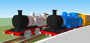 Timothy and Thomas at Ffarquhar by poke-fan-400