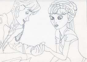Unofficial Frozen Coloring Book Anna and Hans by MyThoughtsAreDeep